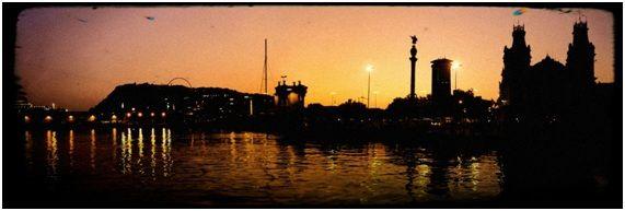 Pôr do sol em Barcelona - Espanha!