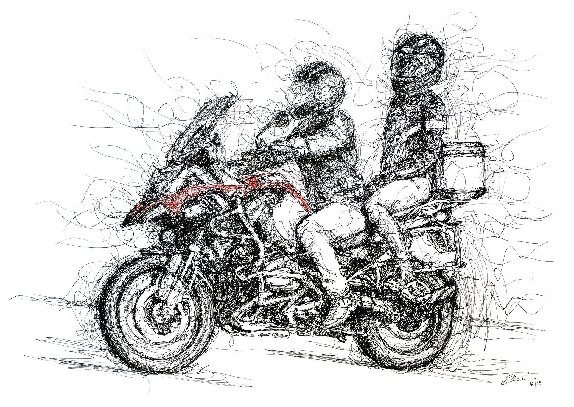 Scribbled Art Bmw R Gs Adventure