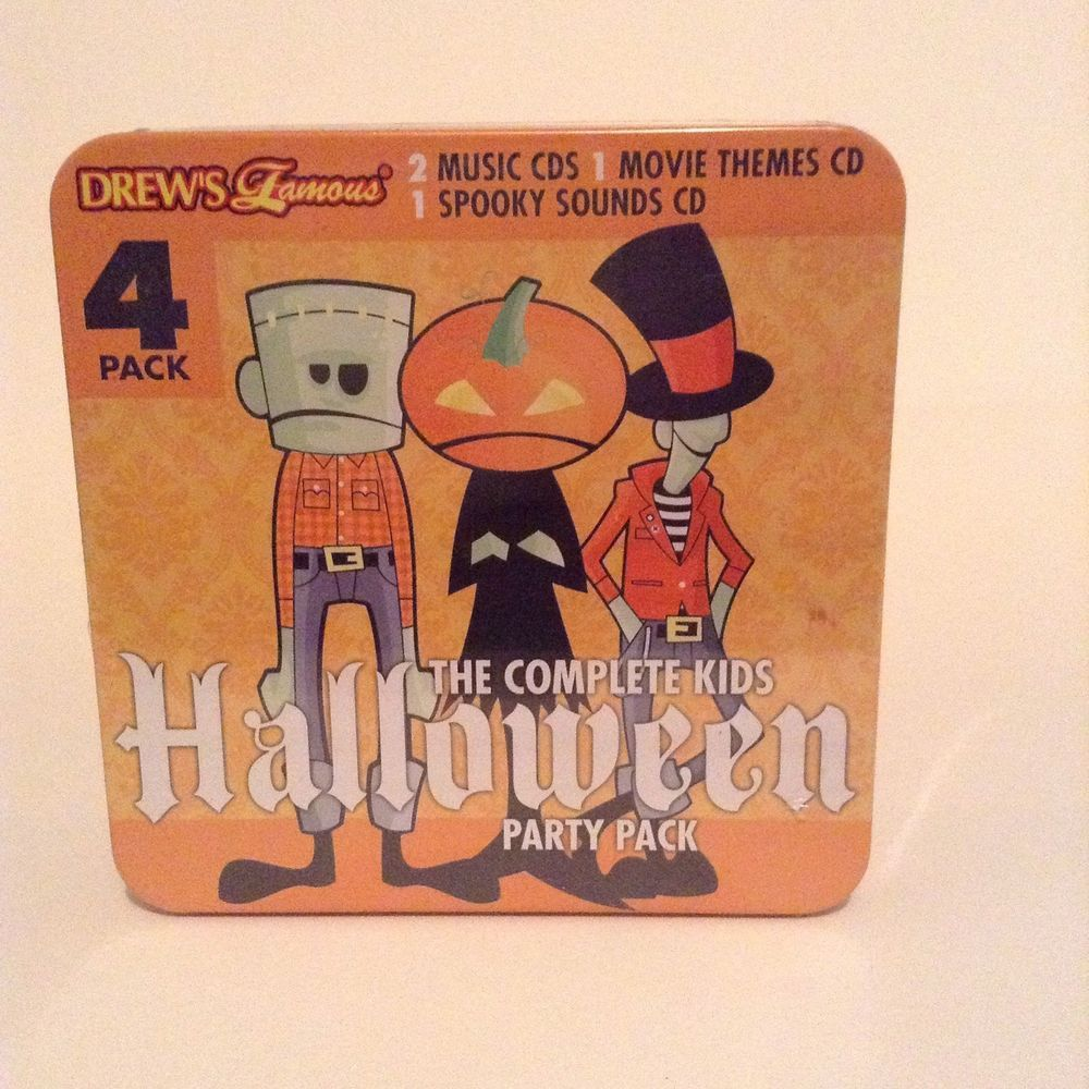 NIB Drews Famous 4 Pack The Complete Kid's Halloween Party Music ...