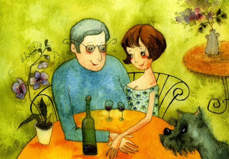 Муж и жена открытки