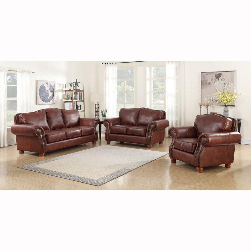 Vranduk 3 Piece Leather Living Room Set In 2020 Leather Living Room Set Living Room Leather Living Room Sets