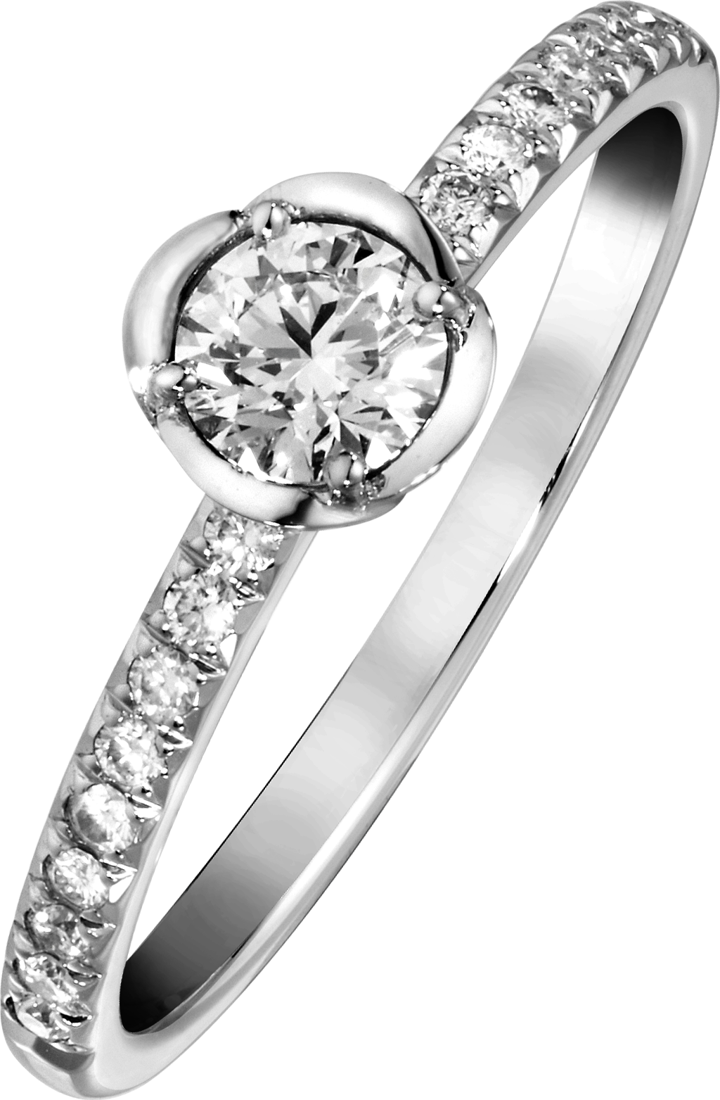 Engagement ring G34UR200 in platinum set with central