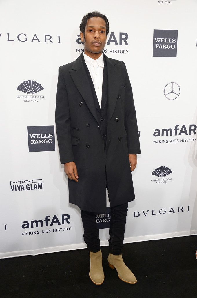 Rapper ASAP Rocky attends the 2014 amfAR New York Gala at Cipriani Wall  Street on February 2014 in New York City.