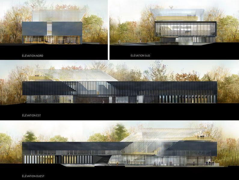 Front Elevation Arch Design : Architecture elevations saucier perrotte architects