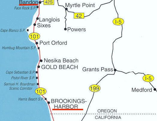 Oregon Southern Coast Map South coastal page 5 Washington and
