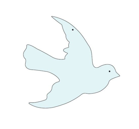 Dove Picture Printable | Glittered Paper Cutout Ornaments | Cards