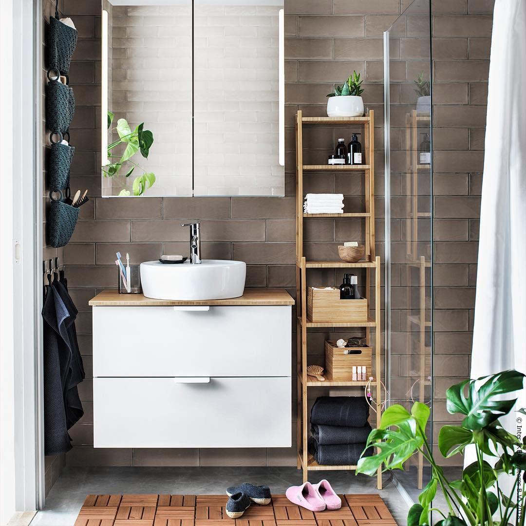 Entspannt Wach Werden Zwischen Warmen Naturlichen Materialien Ragrund Meinikea Ragr Small Bathroom Storage Bathroom Storage Units Narrow Bathroom Storage