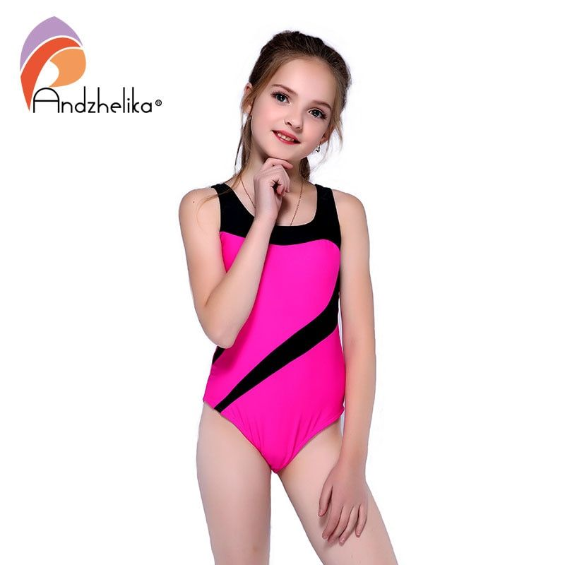 8bfe82194fbb9 Andzhelika Children's One-Piece Suits Swimsuit Girls Beach Sport Bodysuit  Solid Patchwork Kid Bathing Suit Girl Monokini AK81774 #sportswimsuit # ...