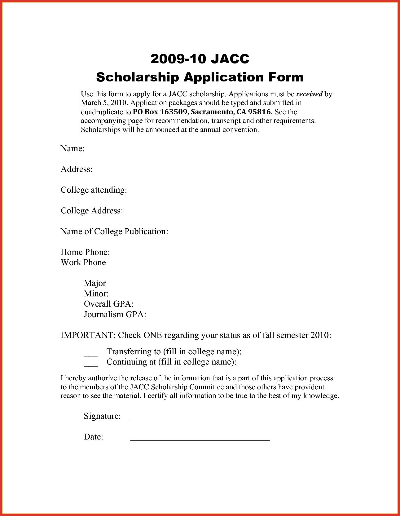 Best Refrence New Application Letter for Scholarship In