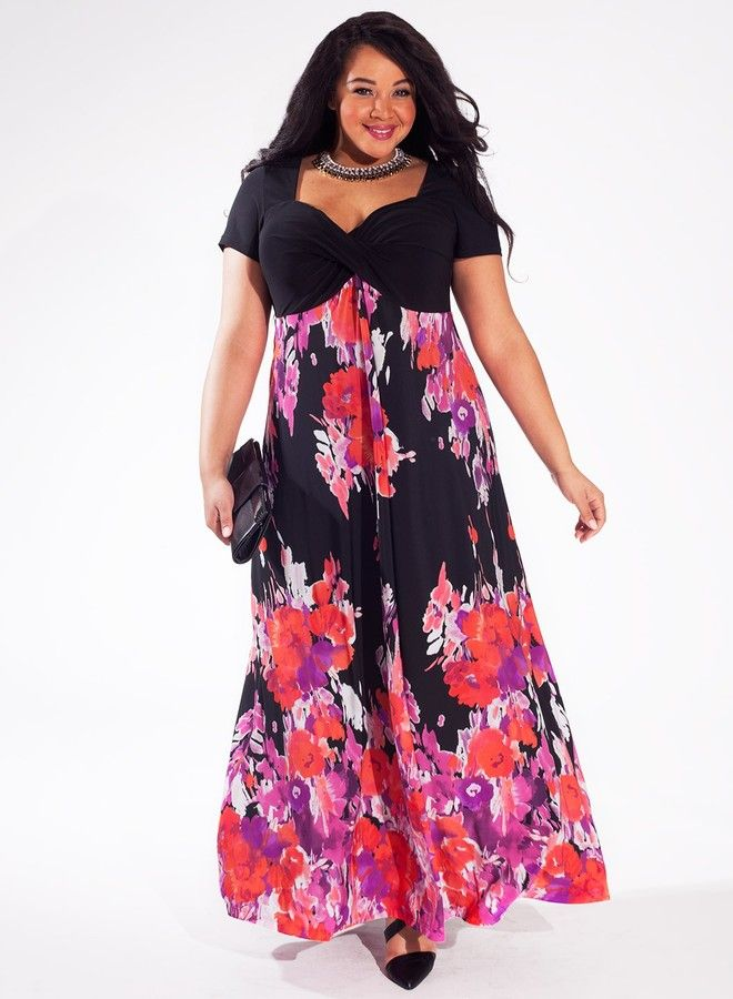 Plus Size Maxi Dress in Caribbean Flush | Best maxi dresses ...