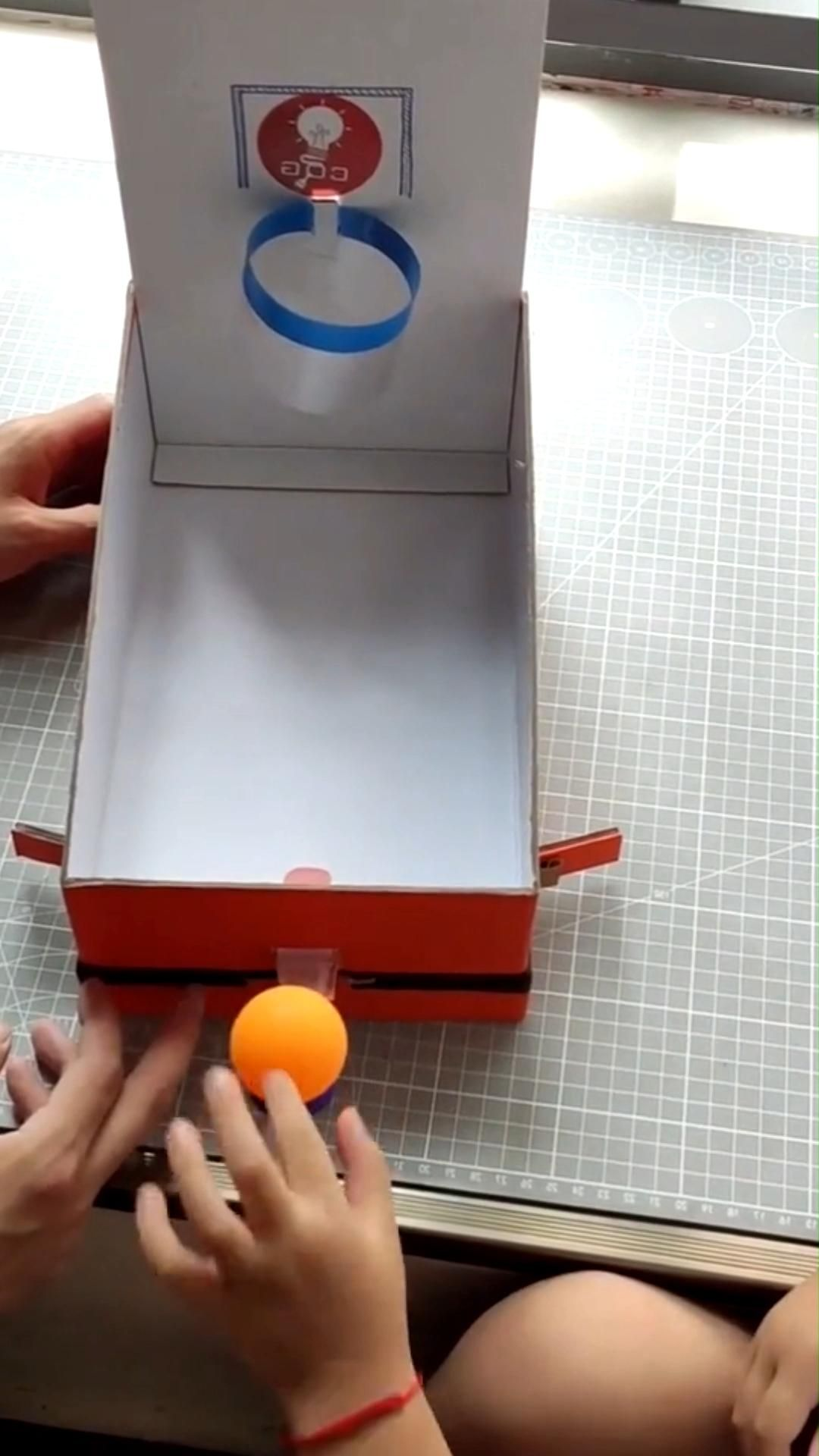 Basketball cardboard craft for toddlers