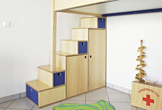 I always wanted to have stairs with drawers to my loft bed when I - hochbetten erwachsene kleine wohnung