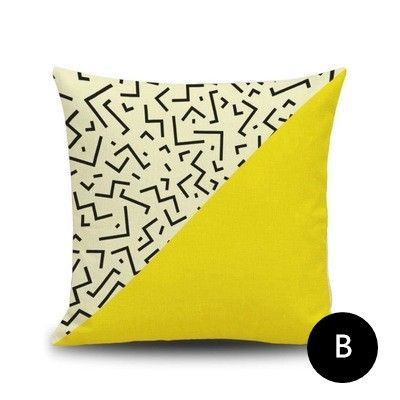 Small Sectional Sofa Nordic style yellow throw pillows abstract geometric animal sofa cushions for home decoration