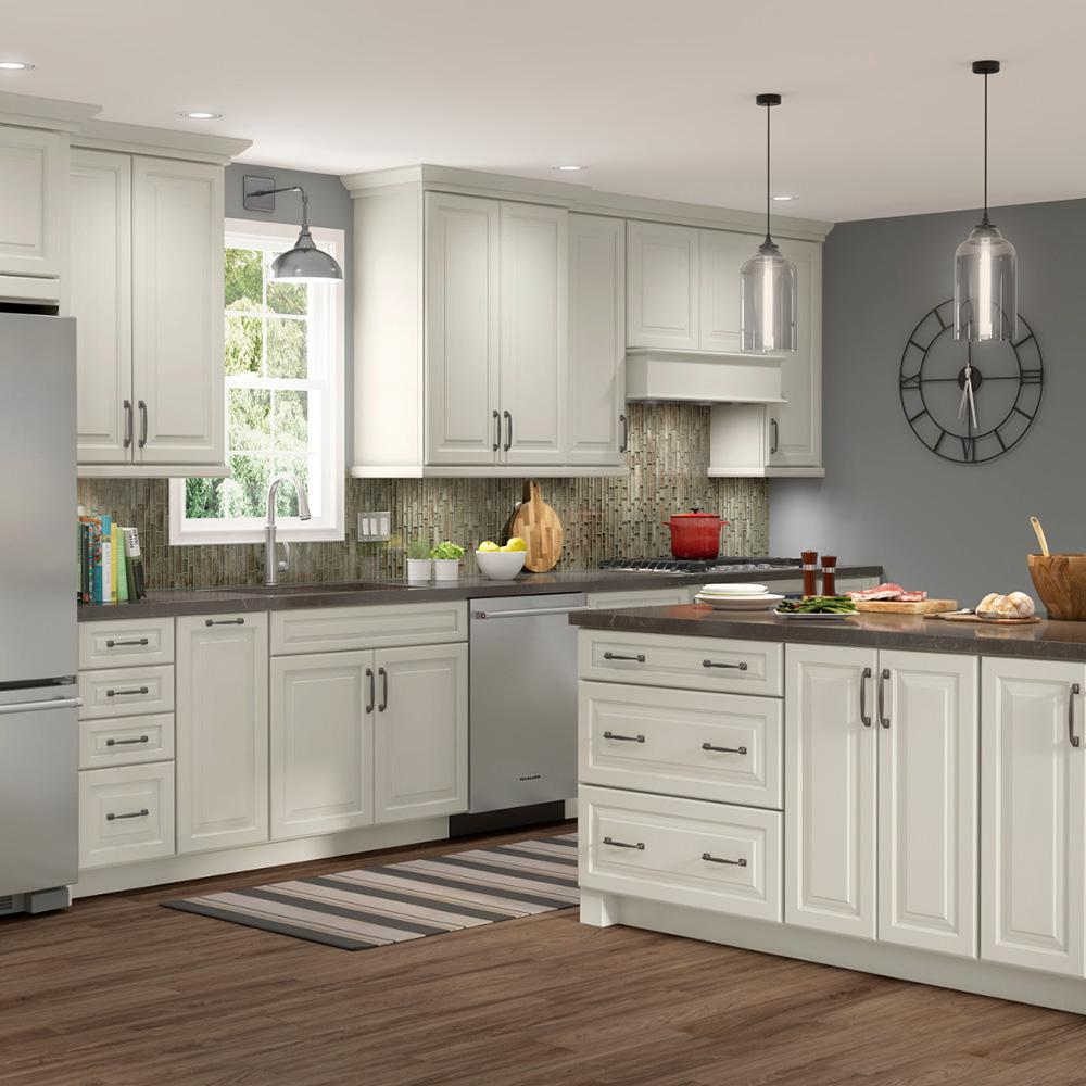 American Woodmark Custom Kitchen Cabinets Shown In Farmhouse Style Hdinstbl The Home Depot In 2020 Custom Kitchen Cabinets Kitchen Cabinets Kitchen Renovation