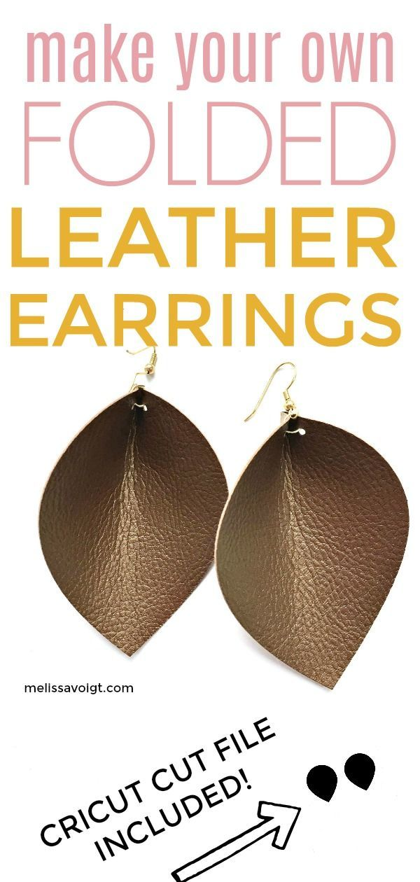 Photo of DIY FOLDED FAUX LEATHER EARRINGS ON YOUR CRICUT #cricut #DIYjewelery #folded #i …