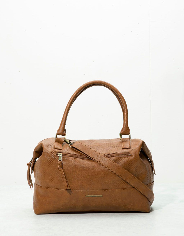 Perforated bowling bag - Bags - Bershka United Kingdom  950ae958b4c61