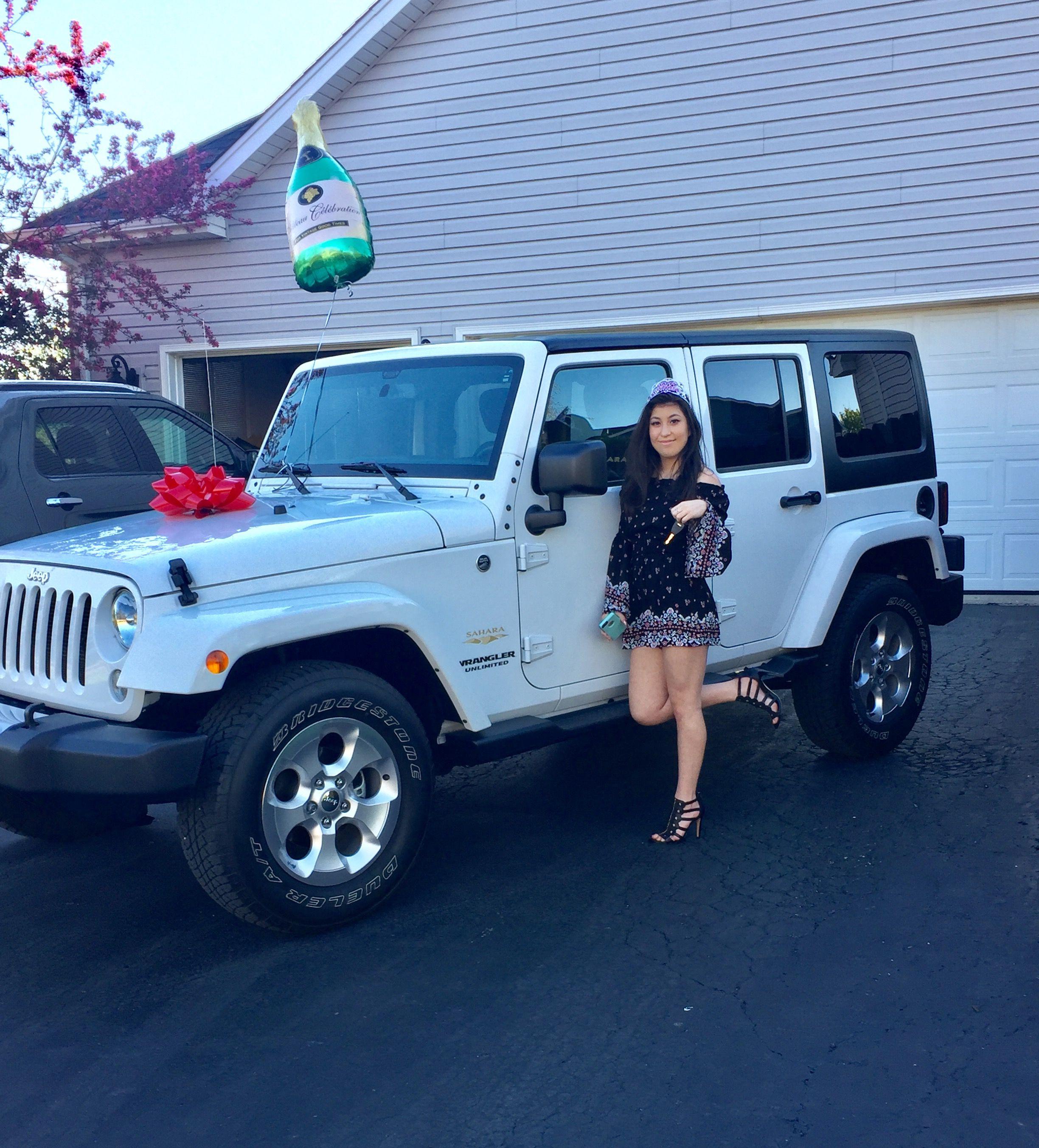 My 21st Birthday Present Jeep Wrangler Unlimited Sahara My Birthday Wish Came True My Dream Jeep 4 25 17 Jeep Suv Car
