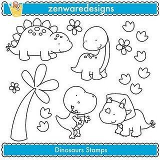 Pingl par xiomara chavez sur decoraci n cuarto beb pinterest dinosaure dessin et coloriage - Modele dessin dinosaure ...