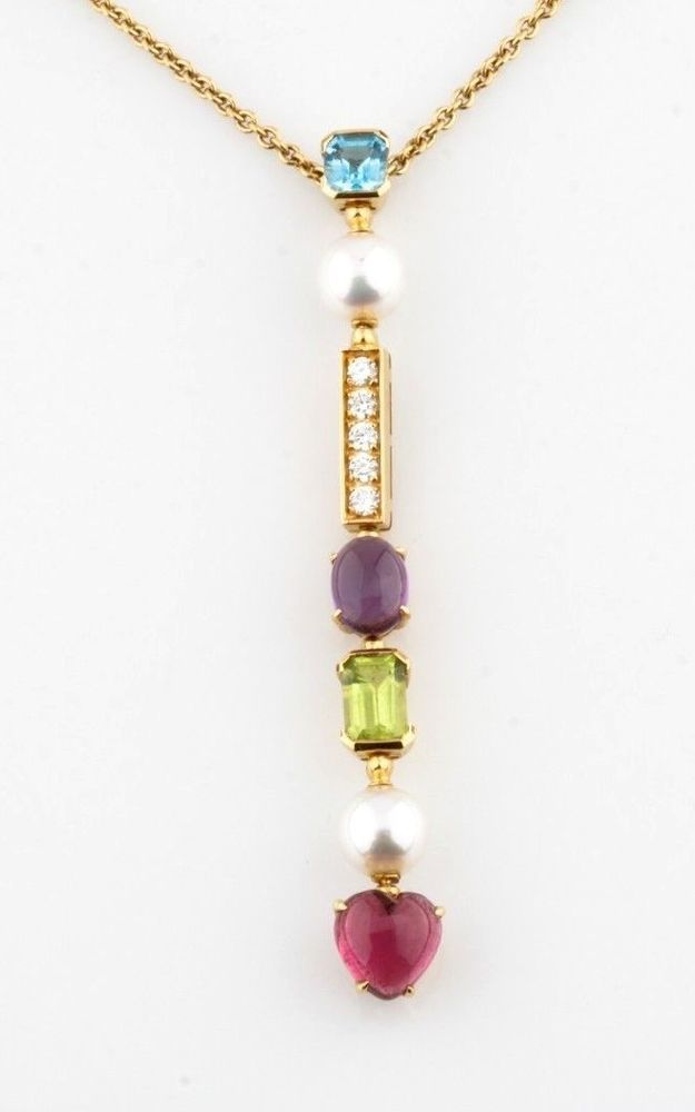 Bulgari 18k gold color collection allegra multi gem pendant bvlgari bulgari 18k gold color collection allegra multi gem pendant bvlgari retail 9100 bulgari aloadofball Gallery