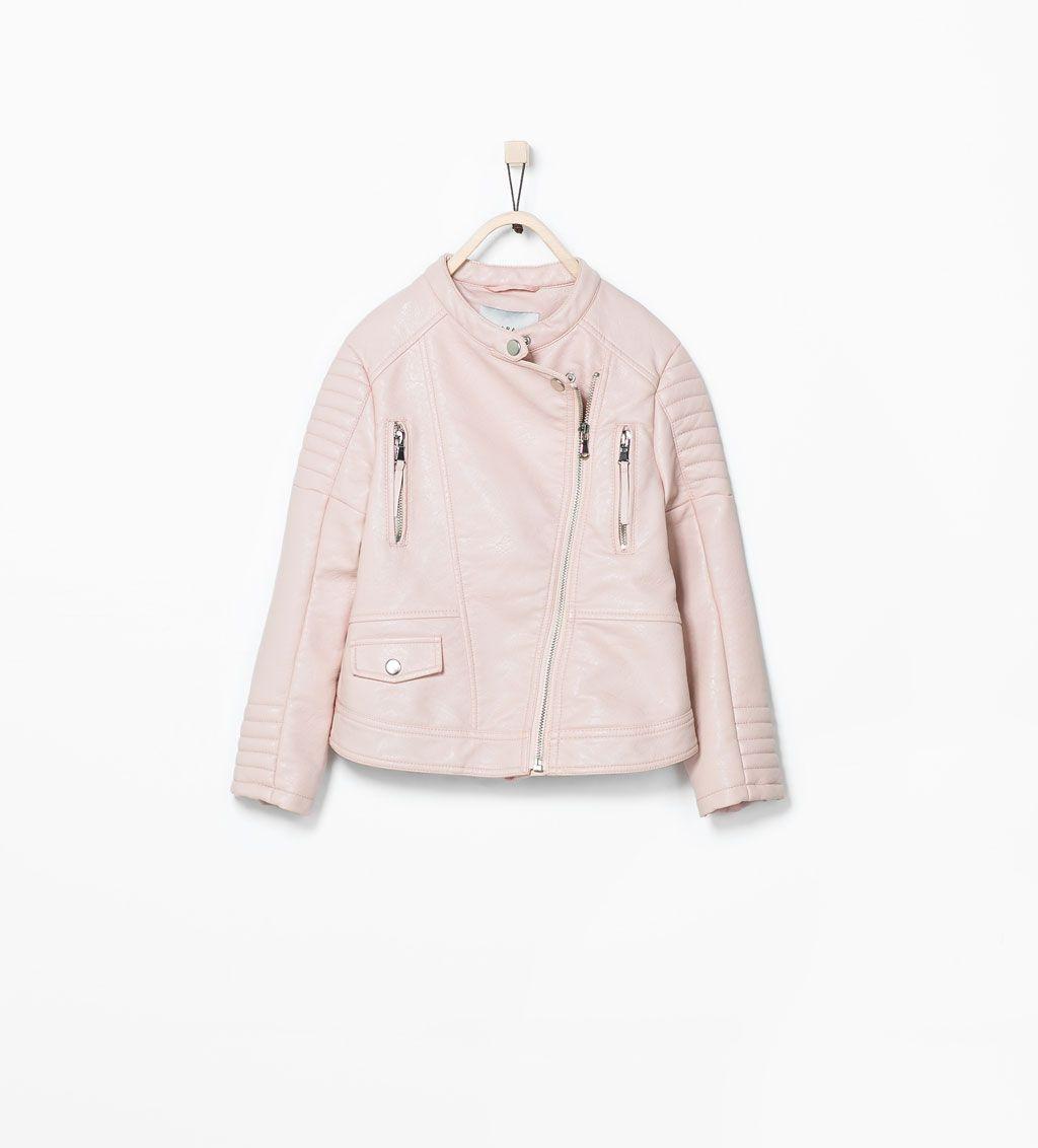 que buen look disfruta del envío gratis grande descuento venta Image 2 of PINK FAUX LEATHER JACKET from Zara | ▻AW15 ...