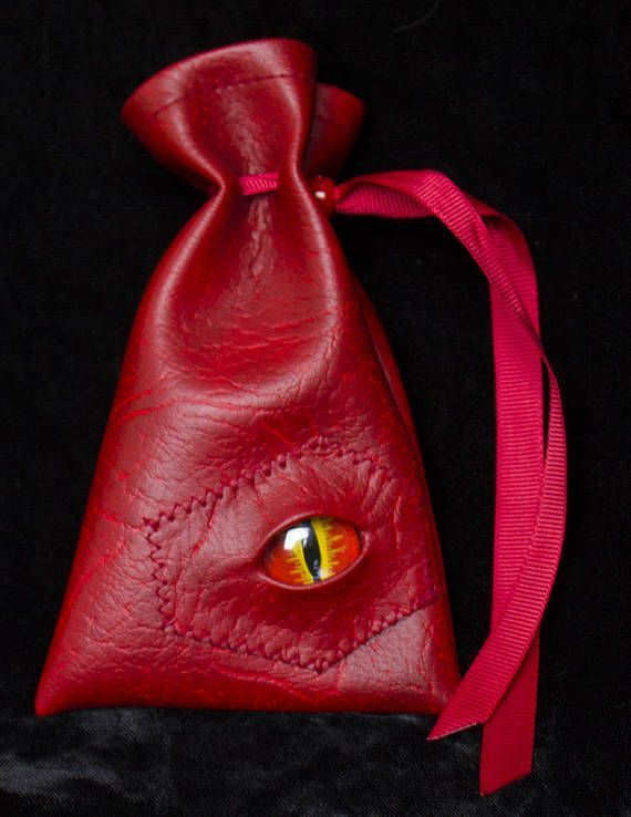 Photo of Dice bag dragon skin dragon eye D&D Dungeons and Dragons | Etsy