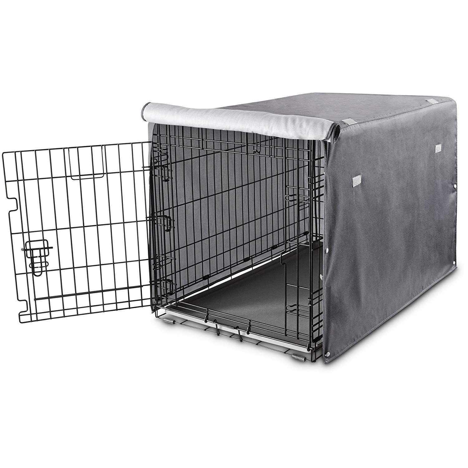 You and Me Dog Crate Cover in Grey >>> You can get