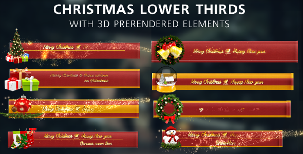 Christmas Lower Thirds (Holiday) Envato Videohive