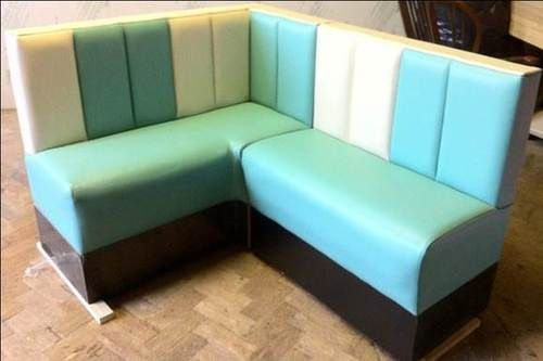 American Diner Corner Bench Seating Custom Made Retro