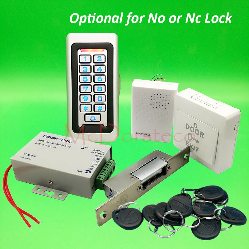 Metal IP68 Waterproof Full 125khz Rfid Door Lock control system Kit