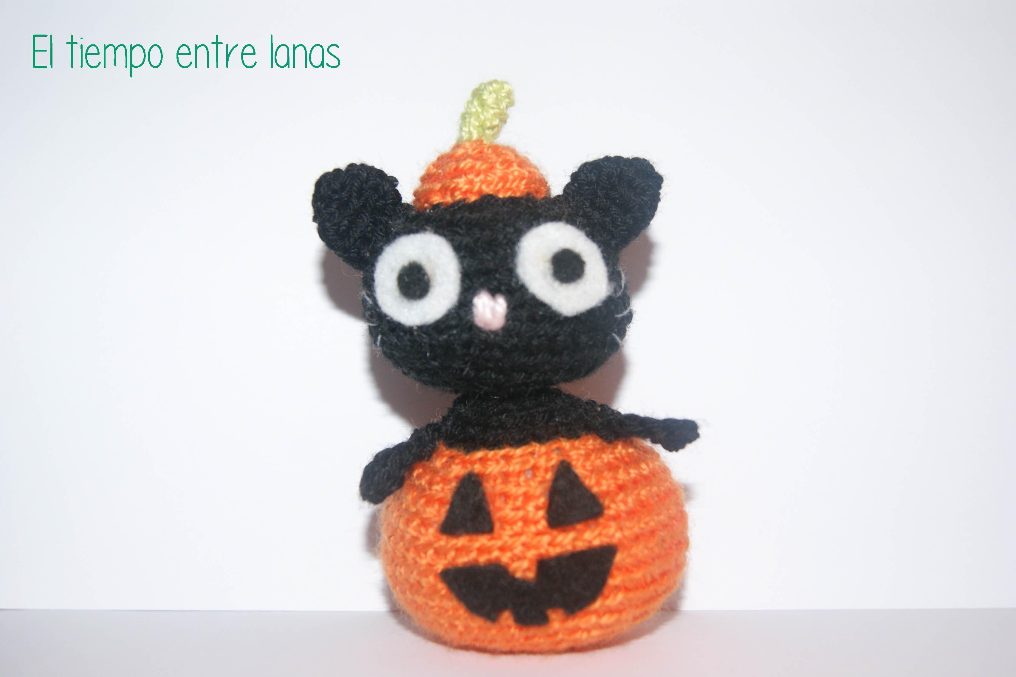 Patrón gato Halloween | Gato halloween, Amigurumi patrones gratis y ...