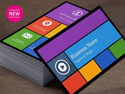 Windows  Metro Ui Style Business Card Templates  Business Card