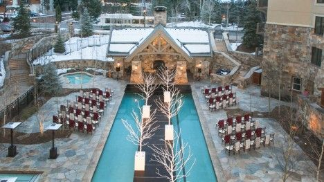Four Seasons Resort Vail Is The Perfect Setting For Weddings With Mountain Views Beautiful Outdoor