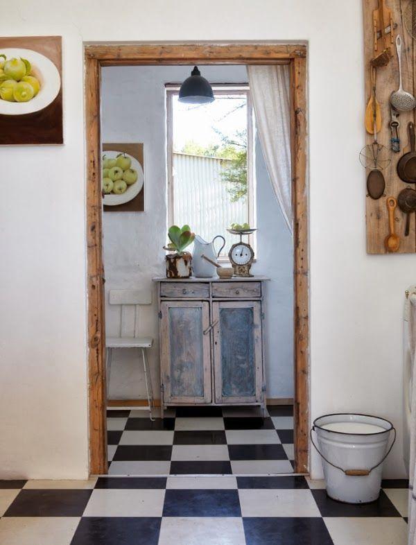 suelo cocina con baldosas blancas y negras | Bedroom | Pinterest ...