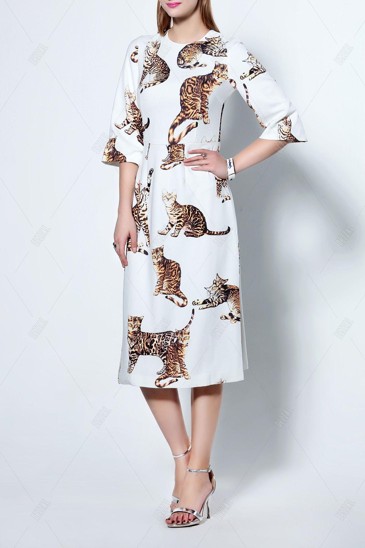 Kitten A Line Midi Dress