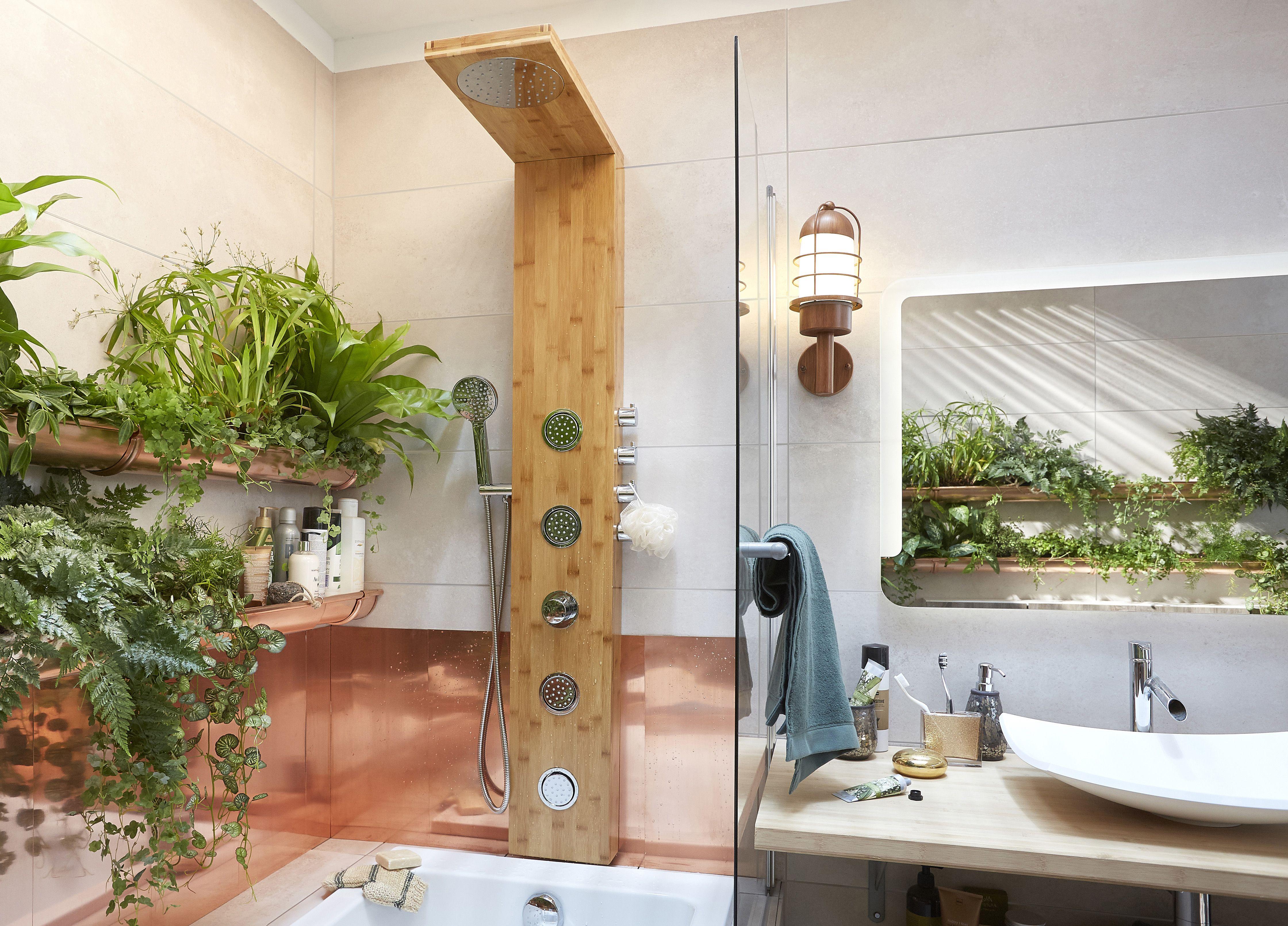 jardini res panoramiques dans la salle de bains pi ce humide et chaude la salle de bains se. Black Bedroom Furniture Sets. Home Design Ideas