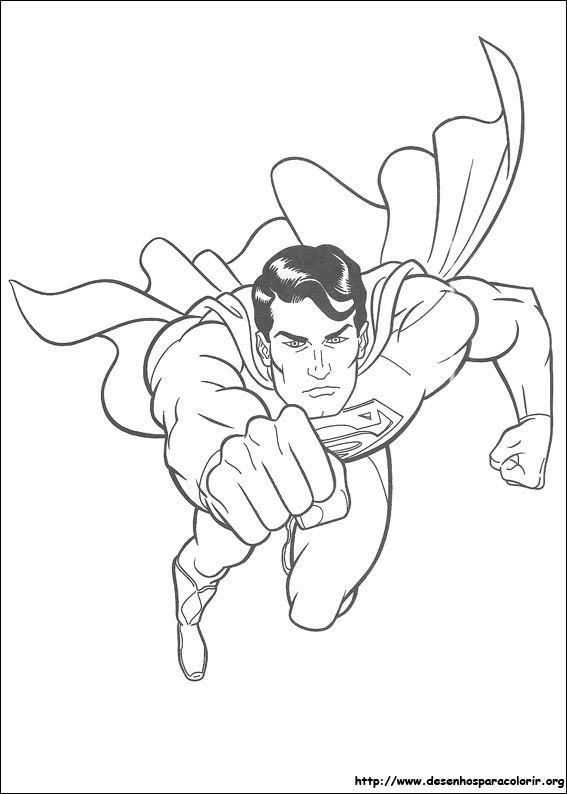 Super Herois Para Colorir Desenho Para Imprimir Superman