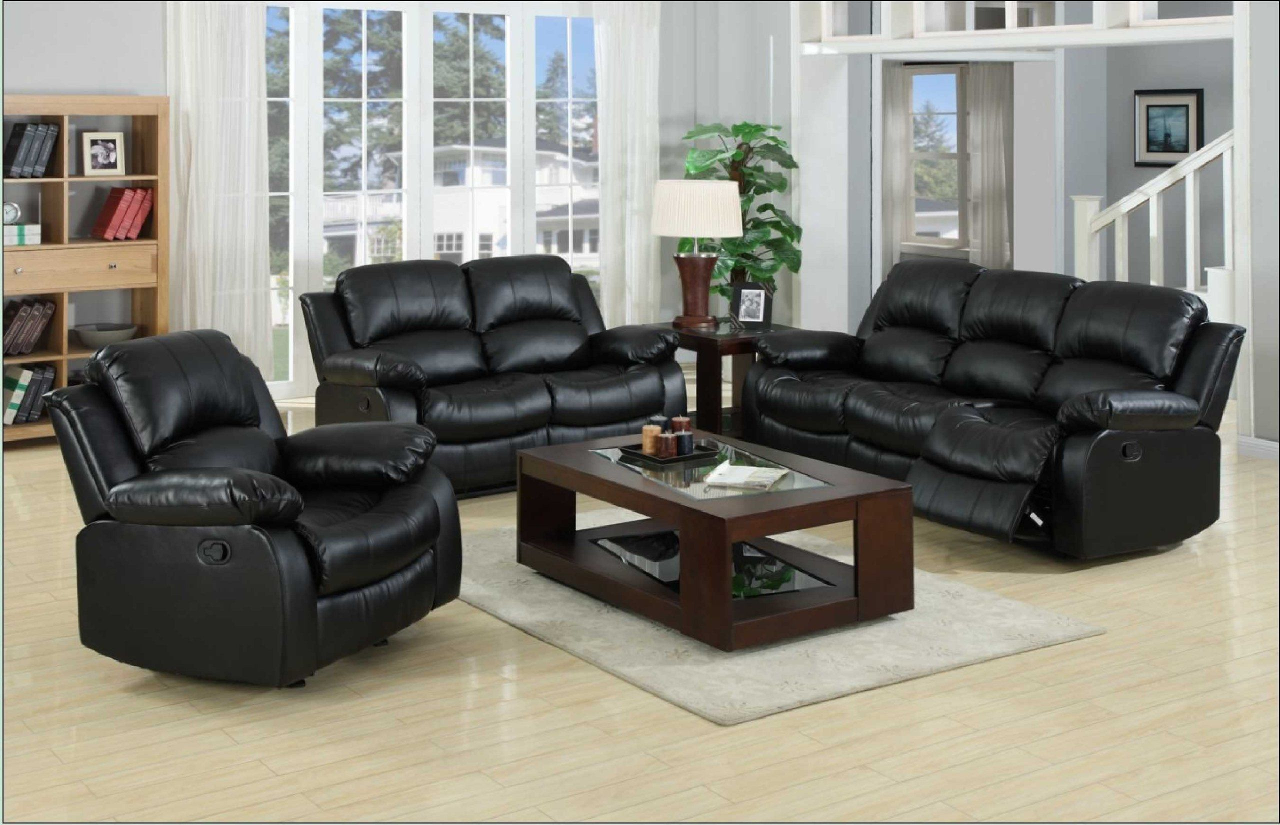 Beau Yuan Tai Kaden Black Bonded Leather Sofa. Soft And Durable Bonded Leather  Match. Motion