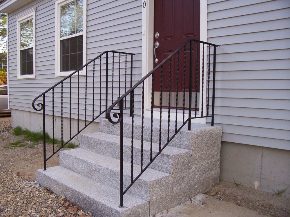 Best Wrought Iron Railings Simple Ribbon Style Wrought Iron Railing Handrails For Concrete Steps 400 x 300