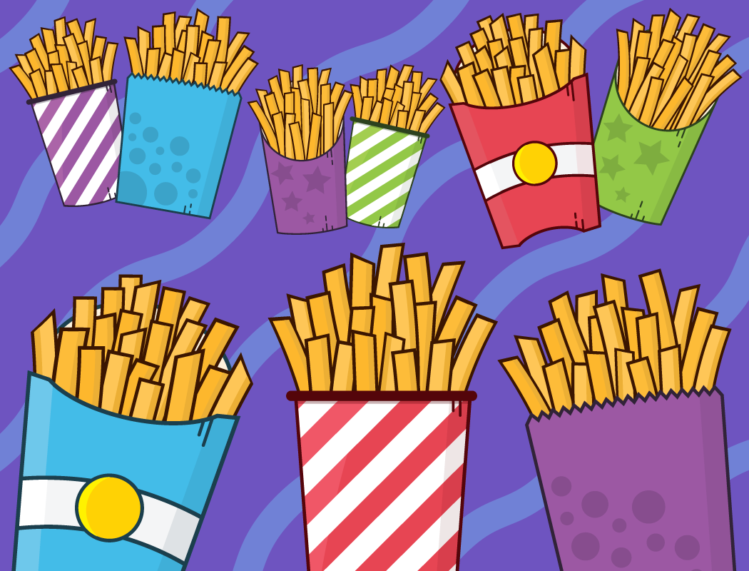 French Fries Clipart Fast Food Clipart Cute Food Clipart Etsy Graphic Illustration Clip Art Graphic