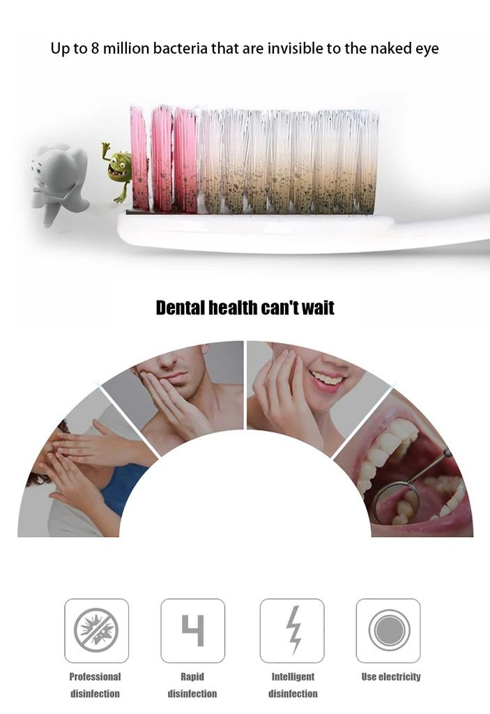 anti bacterial uv toothbrush sterilizer and toothpaste on disinfectant spray wall holders id=41602