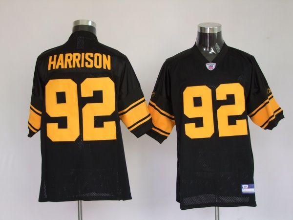 ea41fc7969e  25.00 75Th Reebok NFL Jersey Equipment Pittsburgh Steelers James Harrison   92 Black