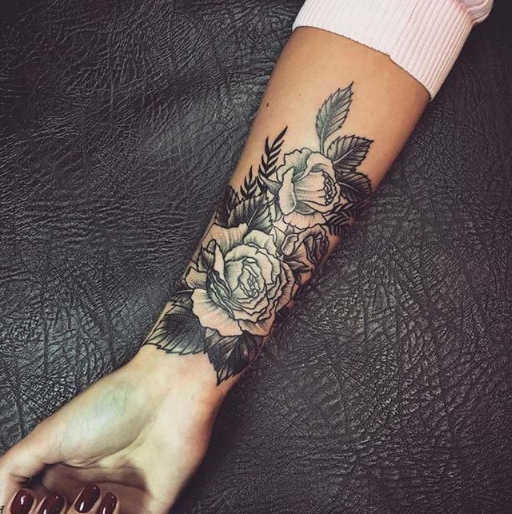 Forearm Wrist Tattoos For Women Badass Tattoos Tattoos For Women Flowers