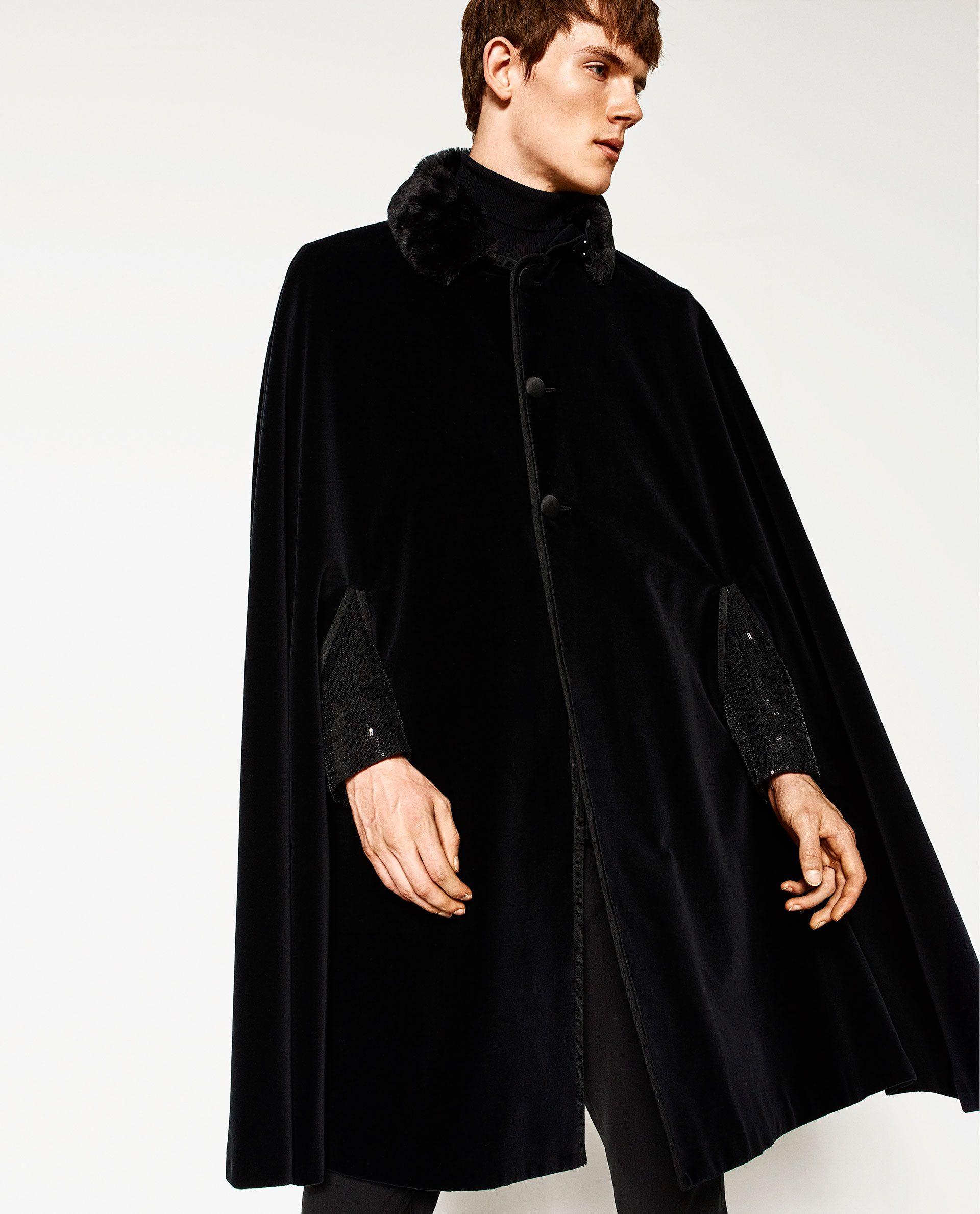 Velvet Cape From Zara Stile Fur Manner Manner Outfit Kostumvorschlage