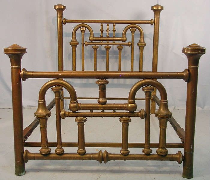 NET: 551 - Antique high back brass bed, ca. - Antique Full Size Brass Bed Frame By Newyorkcitychic On Etsy