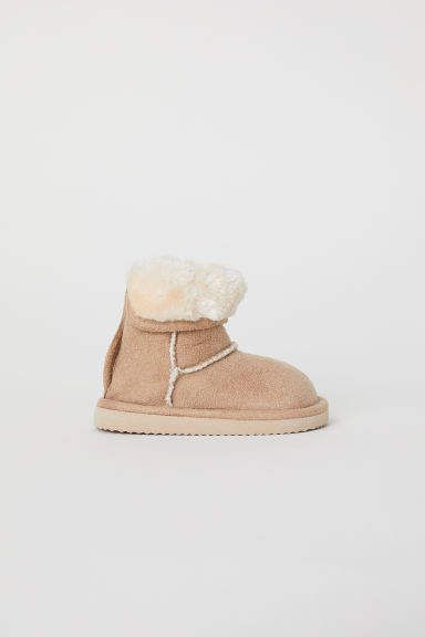 H M Warm Lined Boots Beige Products Boots Girls Shoes Shoe