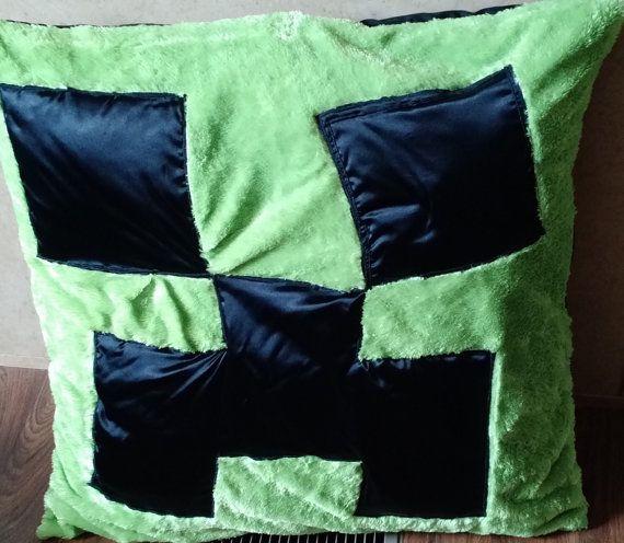 Minecraft Creeper & Enderman Pillow by TanksandTiaras on Etsy