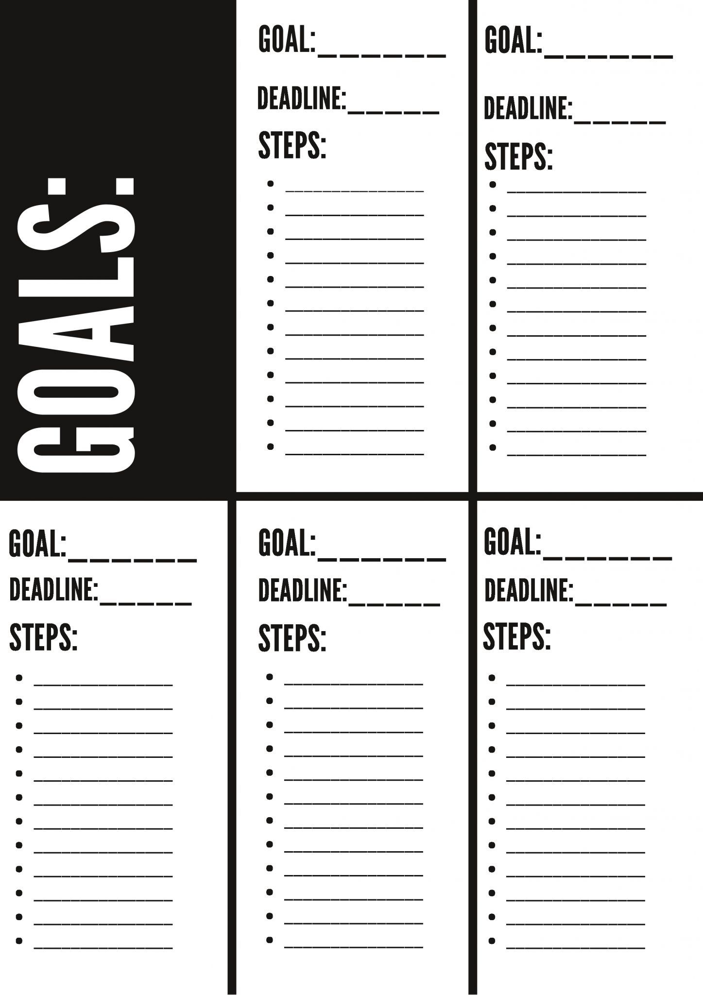 Free Goal Setting Worksheet Printable In