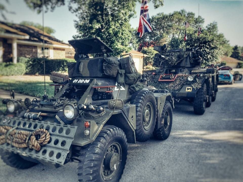 The Kings Own Texas Dragoons Armored vehicles, Military