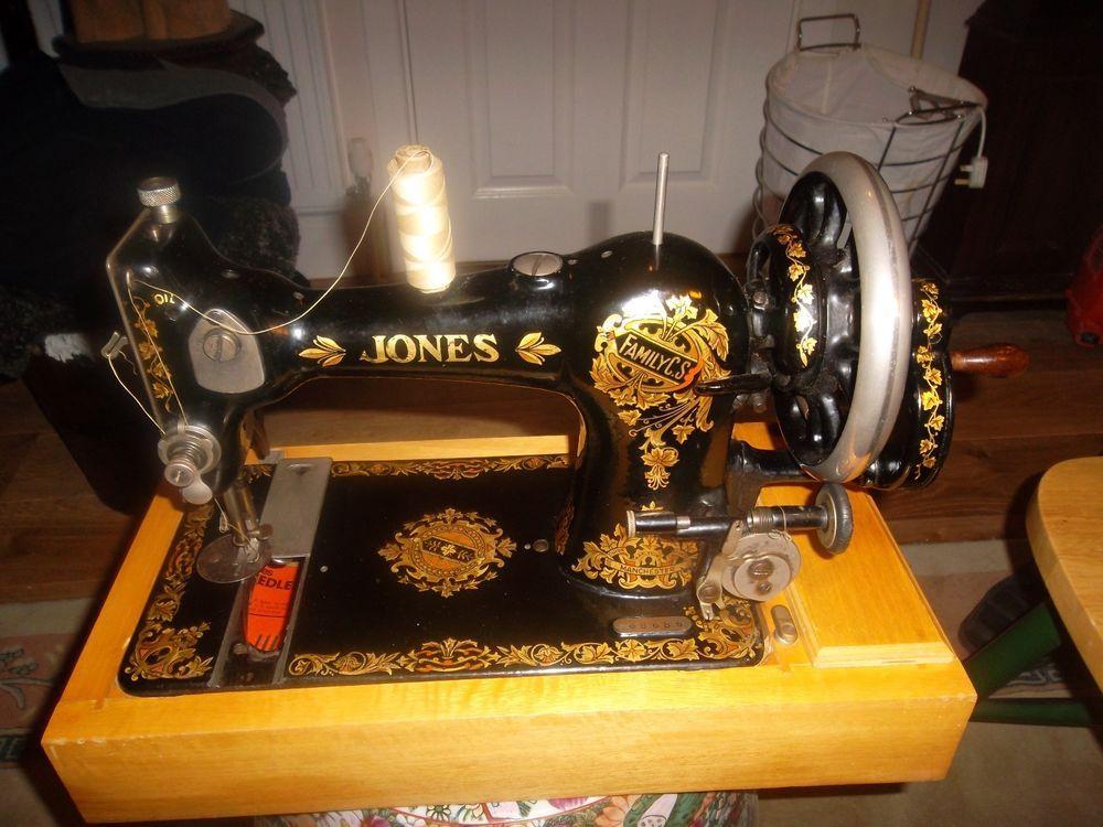Antique Jones Sewing Machine With