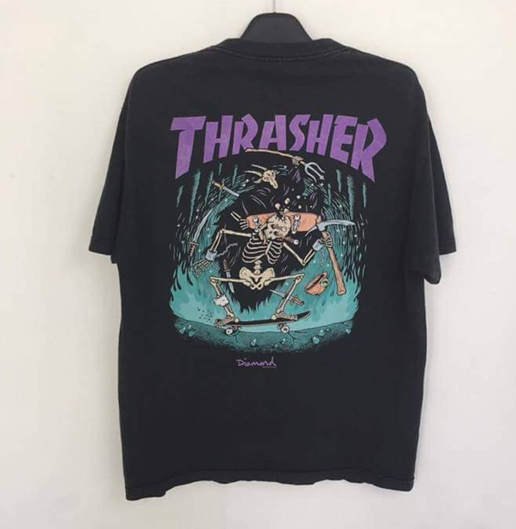 4ecd217308b6 Thrasher Thrasher x diamond skateboard tshirt big print..very good  condition stussy powell peralta santa cruz versace gucci fendi tommy polo Size  US L / EU ...